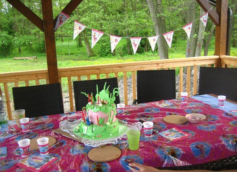 das Kinderhaus ist bereit für die Geburtstagsparty